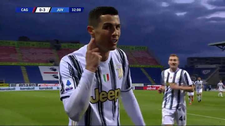 Los goles de Cagliari - Juventus con un hat trick de Cristiano Ronaldo