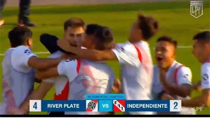 Los goles del triunfo de River ante Independiente en Reserva