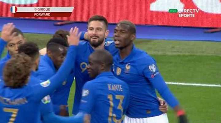 Giroud puso el 2 a 0 de Francia