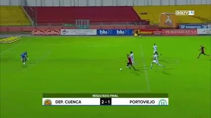 Deportivo Cuenca le ganó a la Liga de Portoviejo