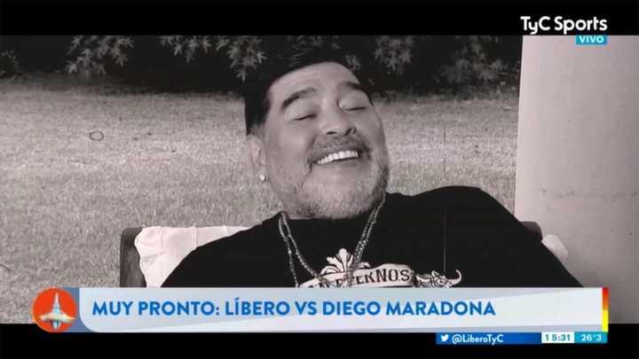 El adelanto del Libero versus Diego Maradona