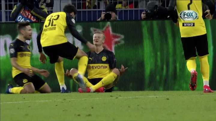El Dortmund marcó el 1 a 0