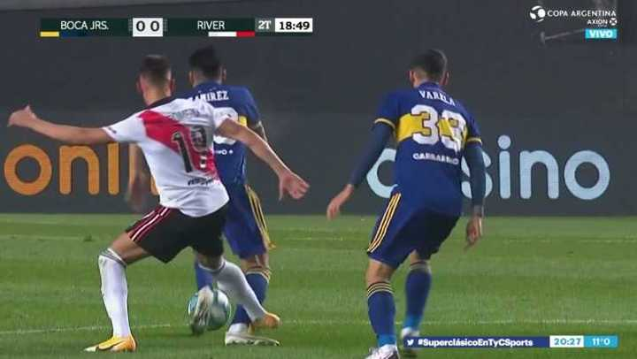 Ramírez hizo amonestar a Zuculini y Braian Romero