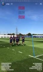 El entrenamiento del PSG en la previa a la Champions