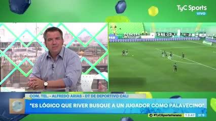 El DT de Deportivo Cali opinó sobre Agustín Palavecino