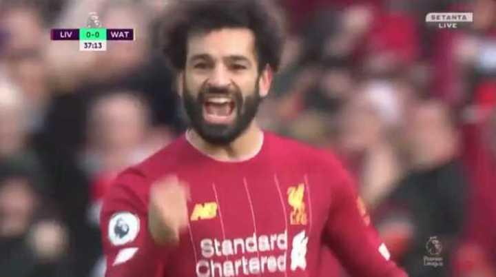 Salah marcó doblete para el Liverpool