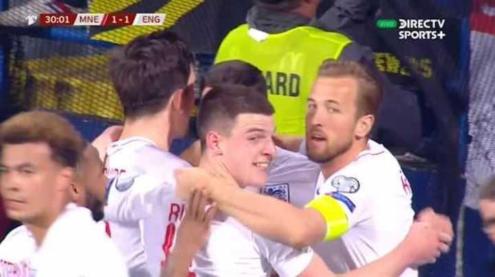 Inglaterra le clavó 5 a Montenegro