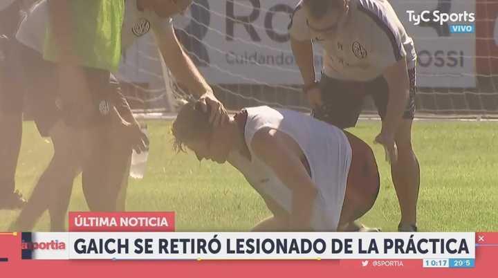 Duro golpe a Gaich en la práctica de San Lorenzo
