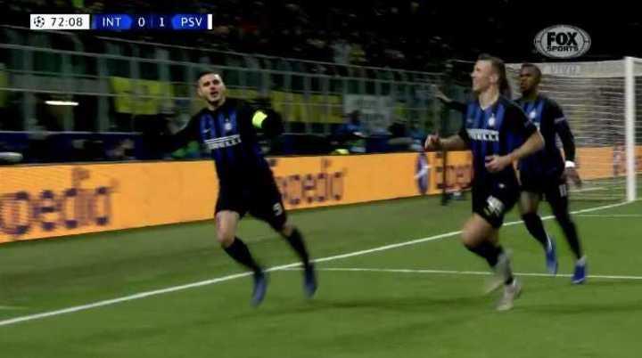 Icardi lo empató con un gol de cabeza