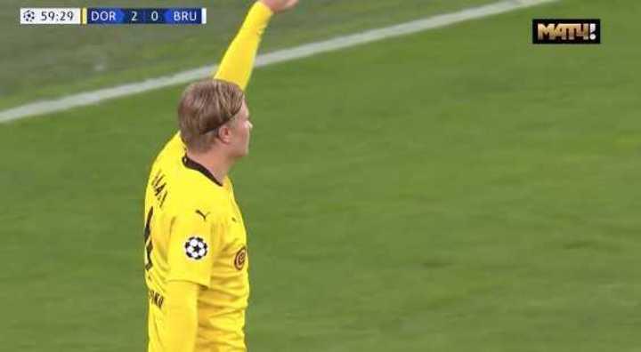 Doblete de Haaland para el Dortmund