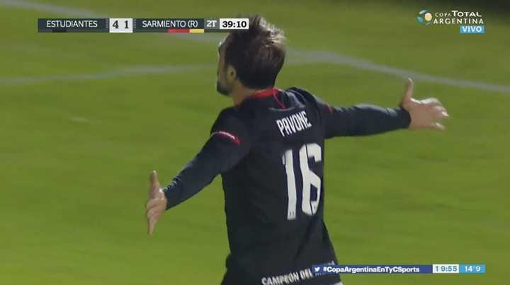 Llegó Pavone para marcar el quinto