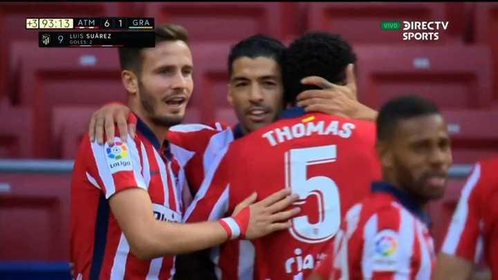Luis Suárez marcó su doblete y puso el 6 a 1
