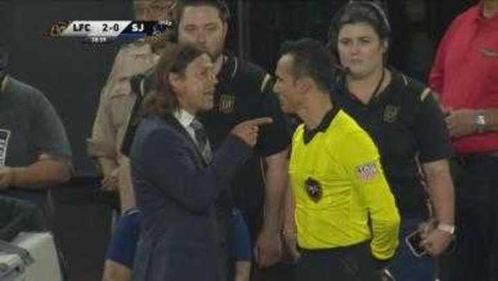 Almayda enloqueció y lo expulsaron en la MLS
