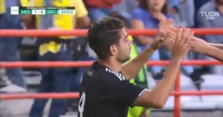 El 1 a 0 de México a Argentina