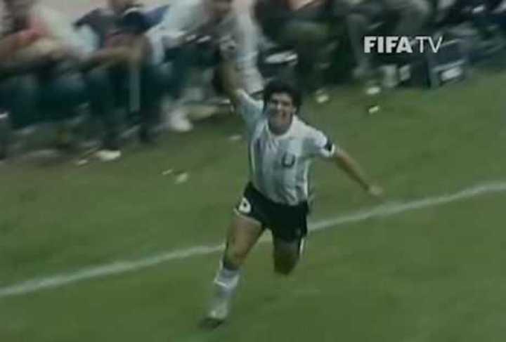 Goles de Maradona a Bélgica en el 1986
