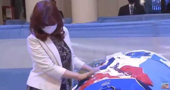 Cristina Fernández de Kirchner y el último adiós a Maradona