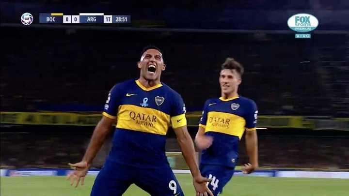 Wanchope puso el 1-0 para Boca