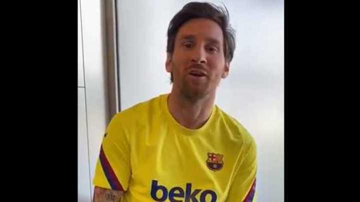 El saludo de Messi a un jeque árabe