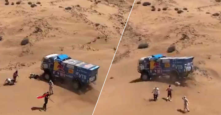 ¡Tremendo accidente en el Dakar!
