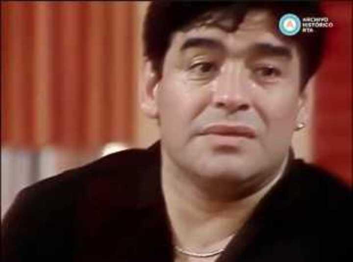 Maradona hablando de Mauro Viale