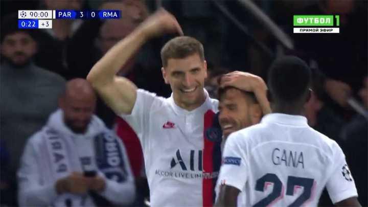 Meunier marcó el tercero para ganarle al Real Madrid