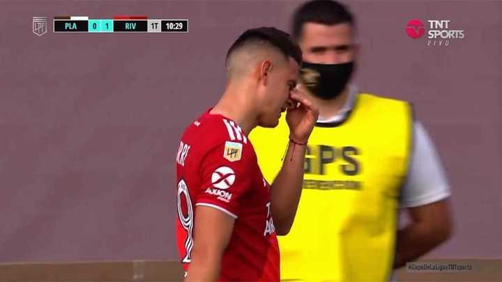 Borré fue reemplazado por Julián Álvarez