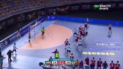 El final del partido entre Argentina y Qatar