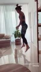 Agustina Albertario y parte de su rutina en casa