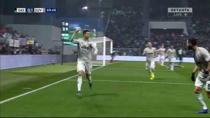 Cristiano metió el segundo de la Juve