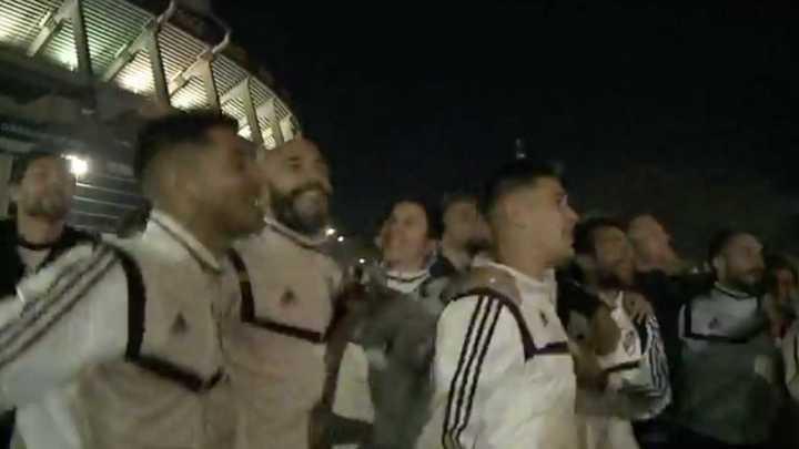 El festejo de los jugadores de River en el Monumental