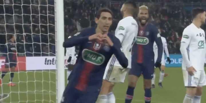 Di María marcó el segundo del PSG