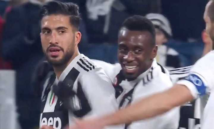 La Juventus metió el segundo al final del primer tiempo