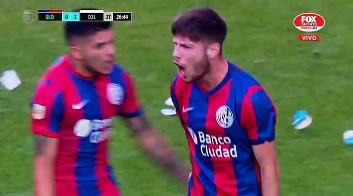 Agustín Martegani metió un golazo para descontar ante Colón