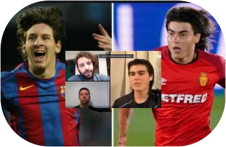 Luka Romero sobre la comparación con Messi