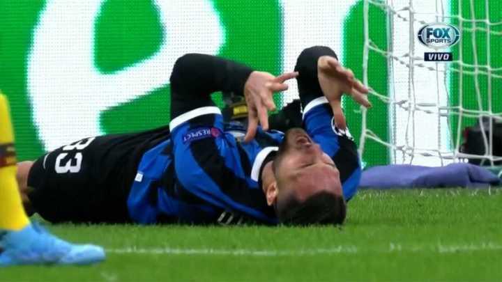 El tiro del Inter pasó cerca