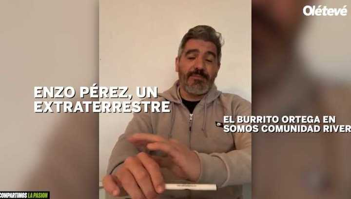 Ortega llenó de elogios a Enzo Pérez