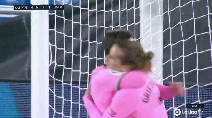 Griezmann empató para Barcelona contra el Alavés