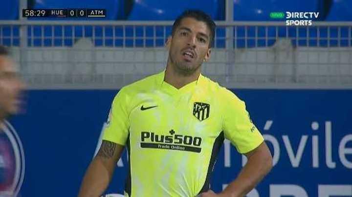 Suárez tuvo una clara frente al Huesca