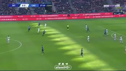 El gol de Lautaro Martínez al Cagliari