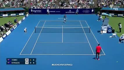 ¡Insólito match point en Australia!