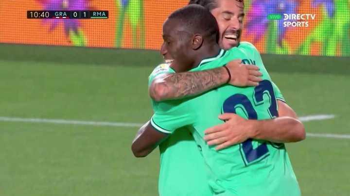 El Real Madrid abrió el marcador con un bombazo de Mendy