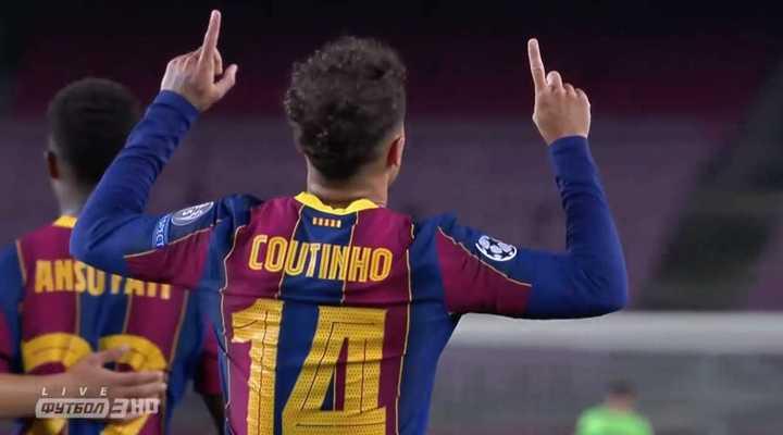 Coutinho marcó el tercero