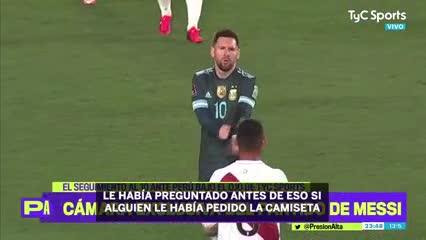 Así Trauco se quedó con la camiseta de Messi
