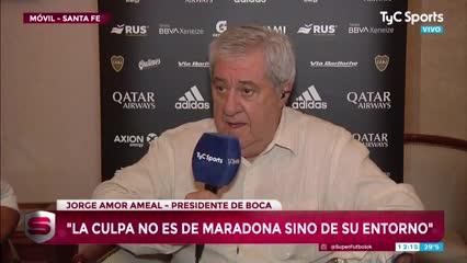 Ameal aclaró sus dichos sobre la visita de Maradona a la Bombonera