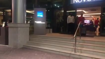La llegada de Unión al hotel