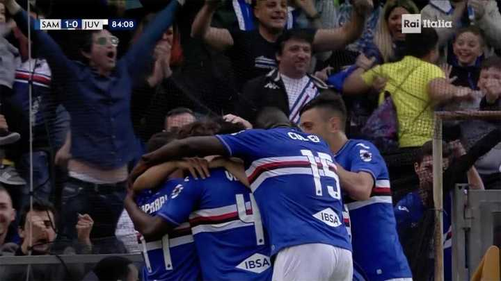 Sampdoria la metió cerca del final