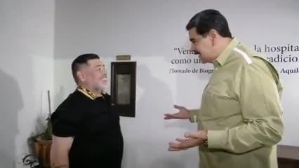 El encuentro de Maradona con Nicolás Maduro