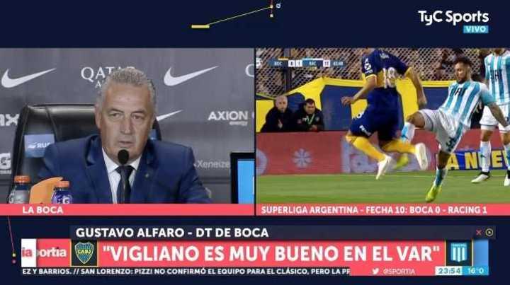 """Alfaro: """"Vigliano es muy bueno para el VAR"""""""