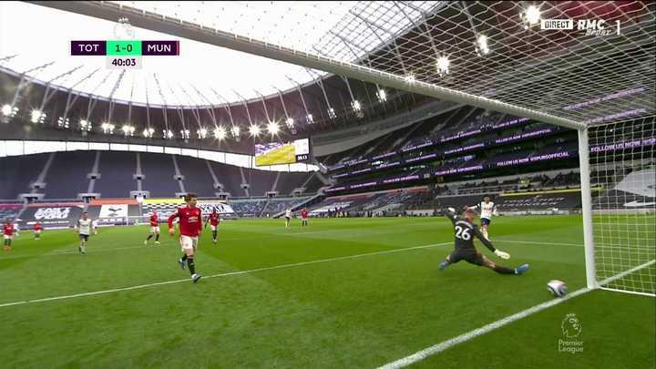 Son puso el 1-0 para Tottenhan vs Manchester United