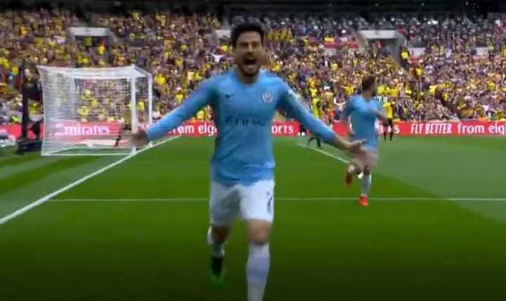 Silva marcó el 1 a 0 del City